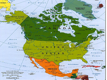 North America PowerPoint, Notes Sheets, and Quiz