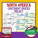North America Project Activity Pages (Paper and Google Drive) World Geography