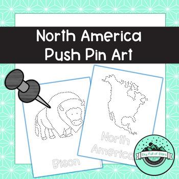 North America Push Pin Art