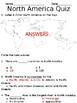North America Quiz (SOL 3.6)