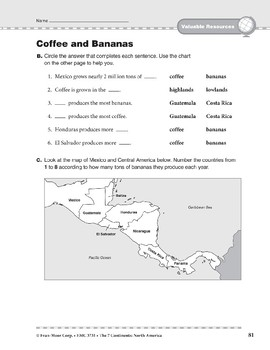 North America: Resources: Coffee and Bananas
