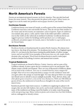 North America: Resources: Forests