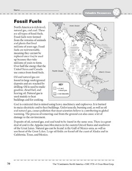 North America: Resources: Fuels, Electricity, and Energy