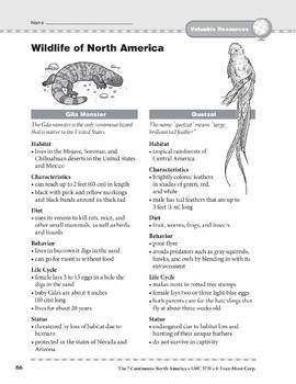 North America: Resources: Wildlife