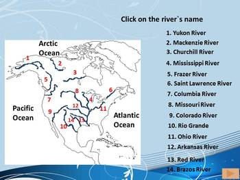 North America Rivers- Interactive PowerPoint Game by Nikole T | TpT
