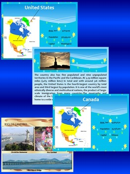 North America - South America - Countries - United States Canada Mexico