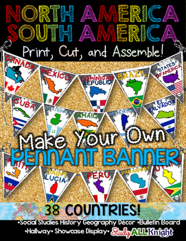 North America South America Classroom Decor Make Your Own