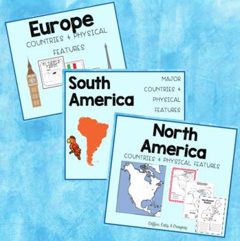 North America, South America, & Europe BUNDLE