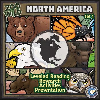 North American Animals - Starter Bundle - Leveled Reading, Slides & Activities