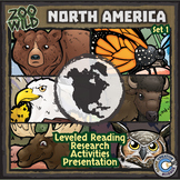 North American Animals - Starter Bundle - Leveled Reading, Slides & Activities