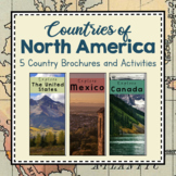 North America Unit Study: Countries of North America Brochures