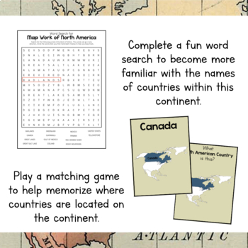 North America Unit Study: Mapwork for North America