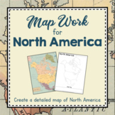 North America Unit Study: Map work for North America