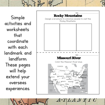 North America Unit Study: Postcards of North American Landmarks and Landforms