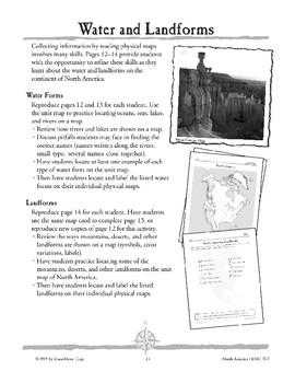 North America: Water & Landforms
