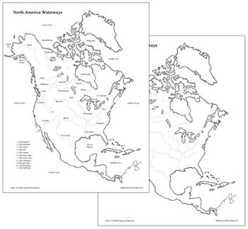 North America Waterways Map
