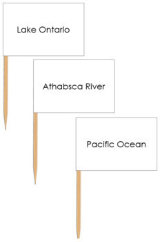 North American Waterways Map Labels - Pin Map Flags