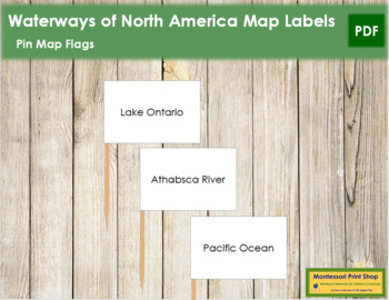 North America Waterways Map Labels - Pin Map Flags
