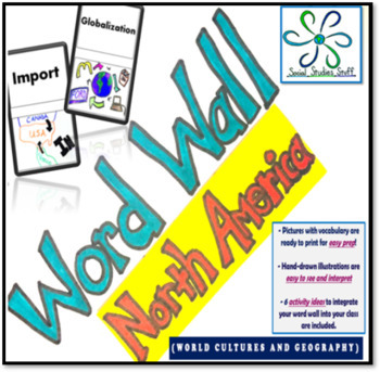North America Word Wall and Game/Activity Ideas