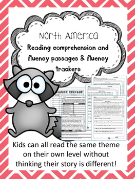 North America fluency and comprehension leveled passage