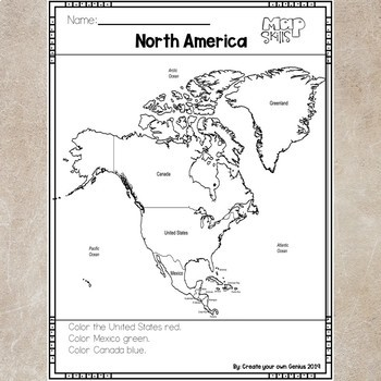 North America on the Map