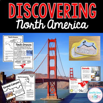 Continents: North America Unit with PowerPoint
