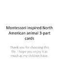 North American Animal Montessori 3 part cards