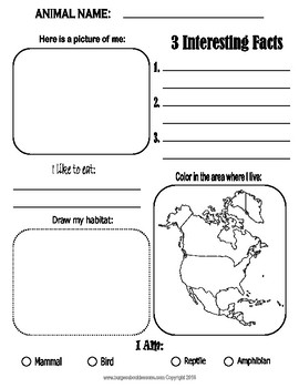 North American Animal Research Report Template BLANK