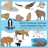 North American Animals Clip Art bundle