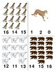 North American Animals: Count and Clip Cards 1-20