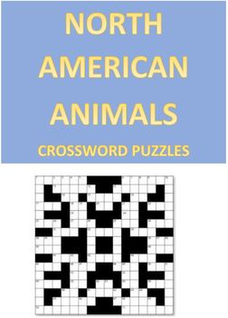 North American Animals Crossword Puzzles