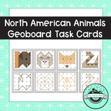North American Animals Geoboard Task Cards