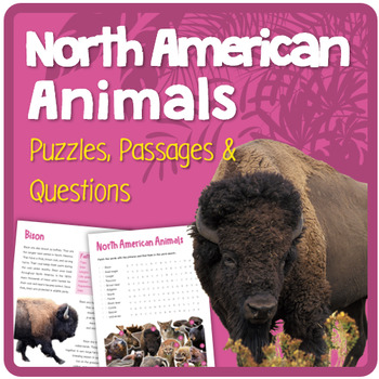 North American Animals (Puzzles & Fun Stuff)