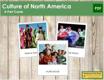 North American Culture: 3-Part Cards