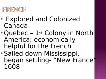 North American Exploration and Colonization Powerpoint