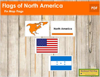 north american flags pin map flags color coded by montessori