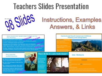 North American Folklore: Close Reading Slides, Activities, Texts, & Assessments