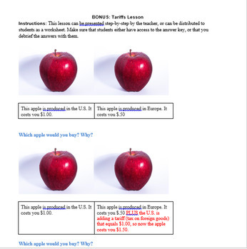 North American Free Trade Agreement (NAFTA) Inquiry Activity