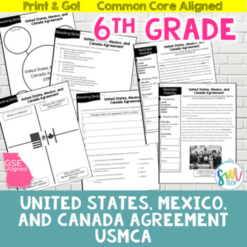 North American Free Trade Agreement (NAFTA) Reading Activity (SS6E2d, SS6E5d)
