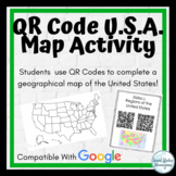 QR Code U.S. Geography Mapping Activity