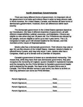 North American Governments