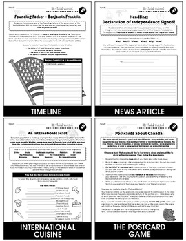 North American Governments and World Politics Gr. 5-8 - BONUS WORKSHEETS