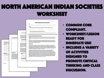 North American Indian Societies - US History Common Core