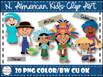 North American Kids Clip Art
