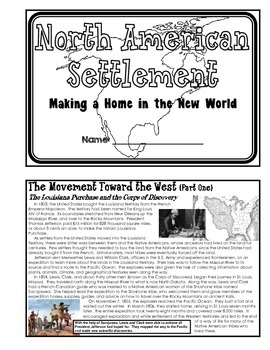 History - North American Settlement (Unit Booklet)