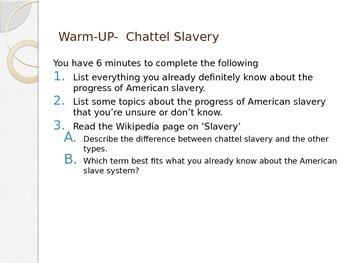 North American Slavery PPt