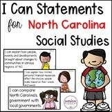 "North Carolina ""I Can"" Social Studies Posters {Fourth Grade}"