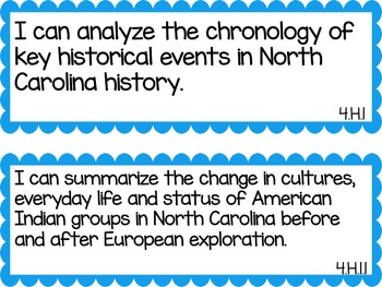 North Carolina 4th Grade Science and Social Studies I Can Statements