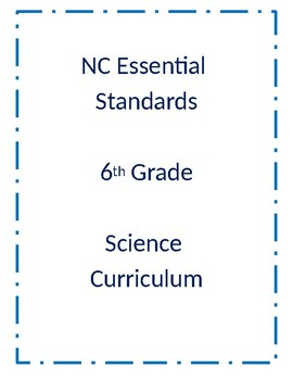 North Carolina Essential Standards 6th Grade Science Curriculum Overview