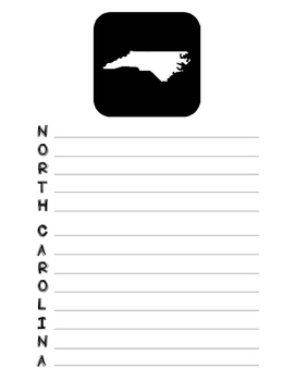 North Carolina State Acrostic Poem Template, Project, Activity, Worksheet